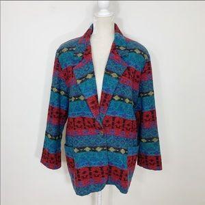 Vintage • 80s southwestern blazer jacket